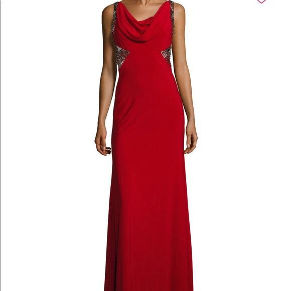 Carmen Marc Valvo Dresses | Gown With Sequins Brand New | Poshmark